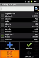 Screenshot of My Euro Converter