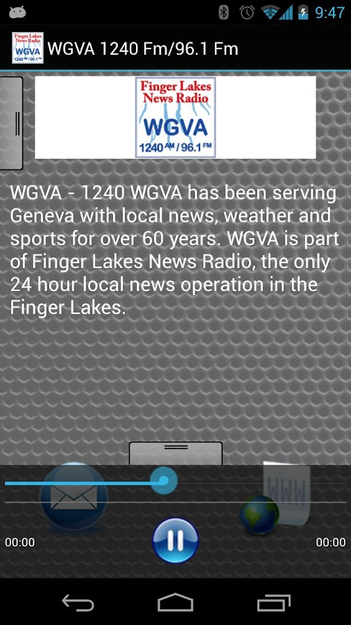 WGVA 1240 Fm/96.1 Fm - screenshot