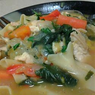 Chicken Vegetable and Noodle Soup Recipe