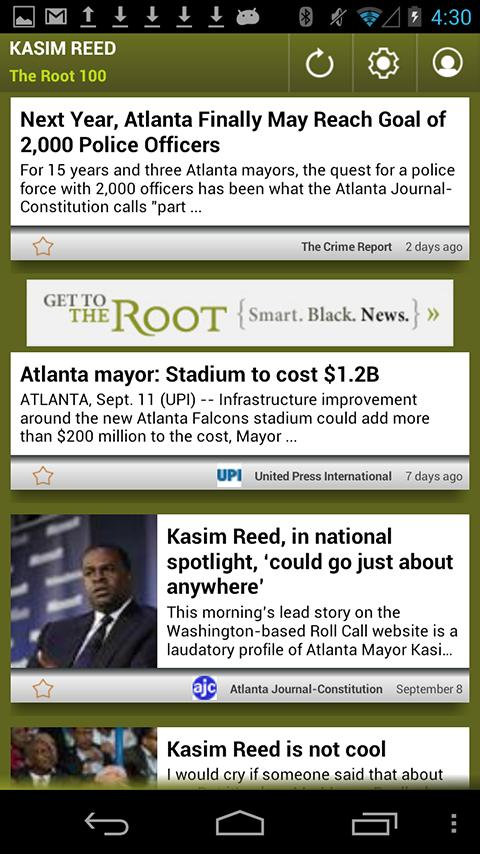 Kasim Reed: The Root 100 - screenshot
