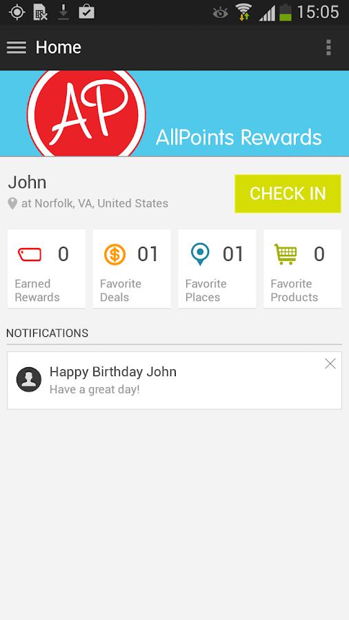 AllPoints Rewards - screenshot