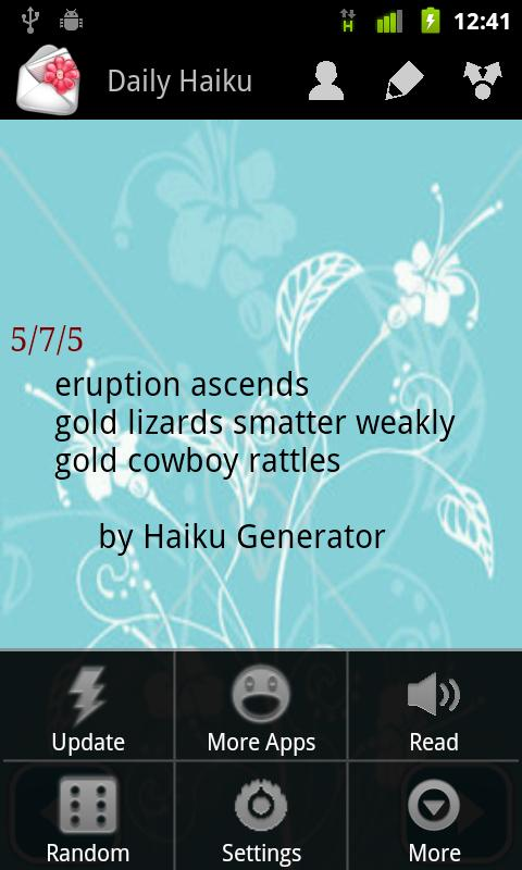 Daily Haiku Poems - screenshot