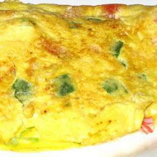 Cheesy Crab And Mushroom Omelette