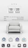 Screenshot of White Soul GO Launcher Theme