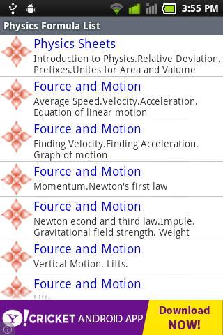 Ultimate Physics Formula
