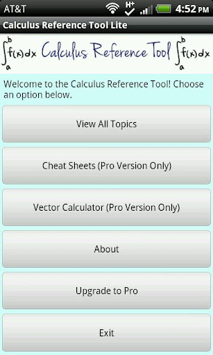 Calculus Reference Tool Lite
