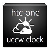 htc one clock uccw skin