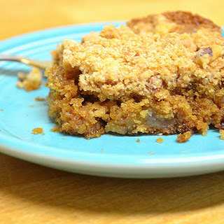 Vegan Apple Peanut Butter Coffee Cake