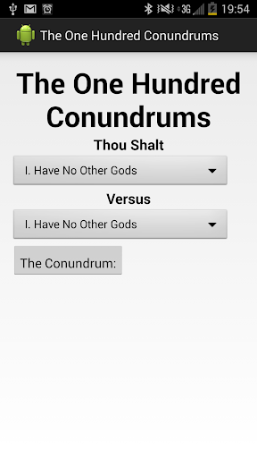 The One Hundred Conundrums
