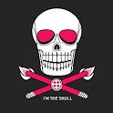 Dark Grey Pink Skull Theme