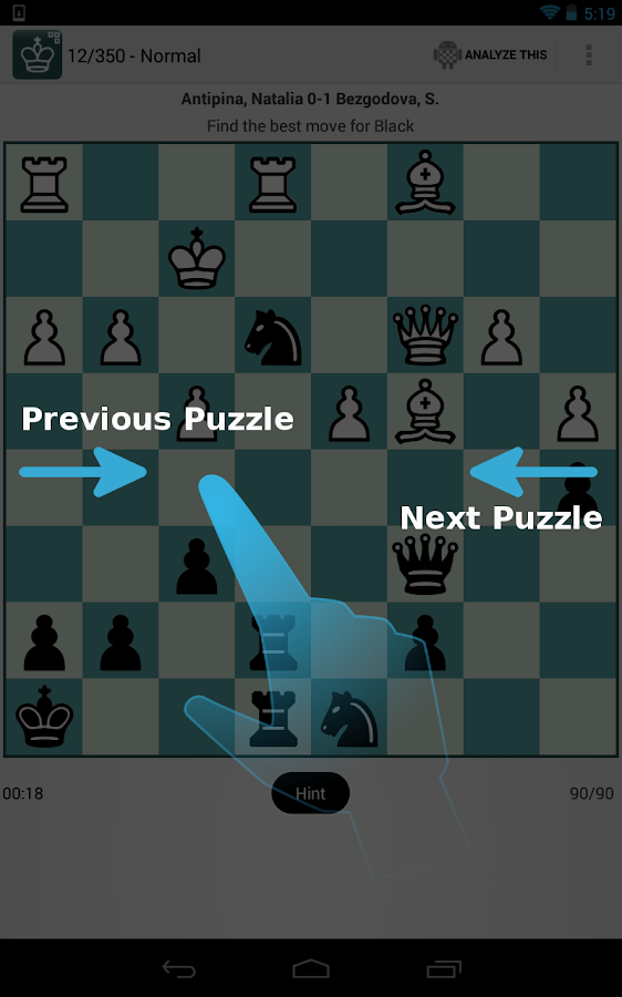 Chess Puzzles - iChess Free - screenshot