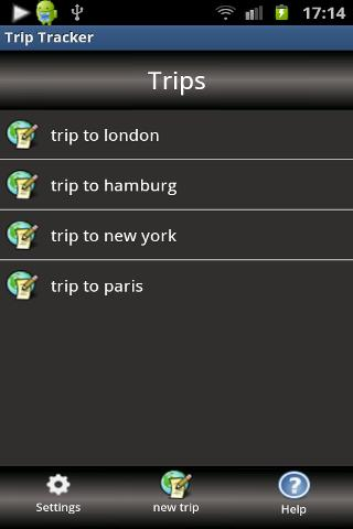 Trip Tracker- screenshot