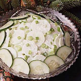 Sour Cream Cucumber Salad.