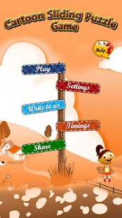 Cartoon Sliding Puzzle Game - screenshot thumbnail