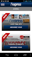 Screenshot of L'Express (La Sentinelle LTD)