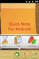 Screenshot of Quick Note sticky note widget
