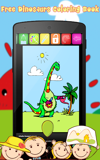 Dinosaurs Coloring Book Free