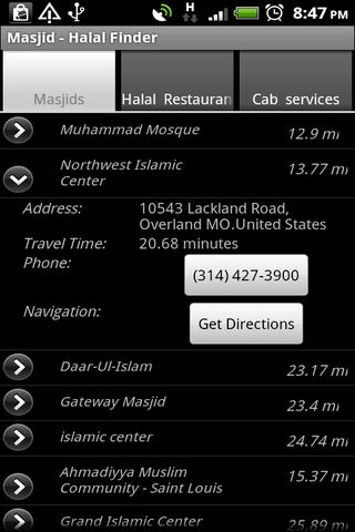 Masjid & Halal Finder- screenshot
