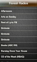 Screenshot of Finnish Radio Finnish Radios