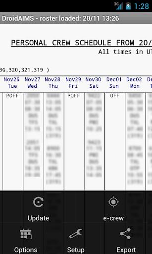 DroidAIMS 1.9952 screenshots 1