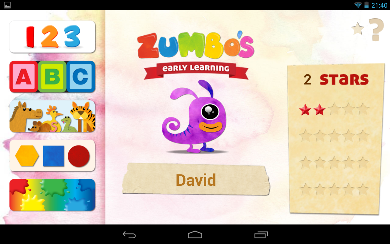 Zumbo's Early Learning - screenshot