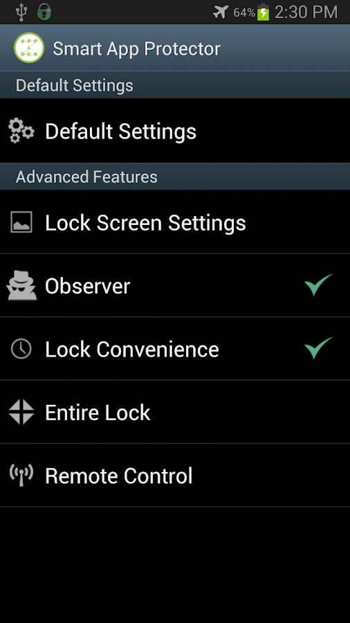 how to use smart app lock