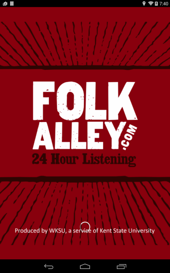 Folk Alley Player - screenshot