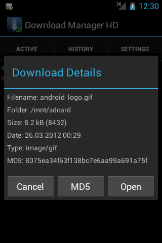 Download Manager HD- screenshot