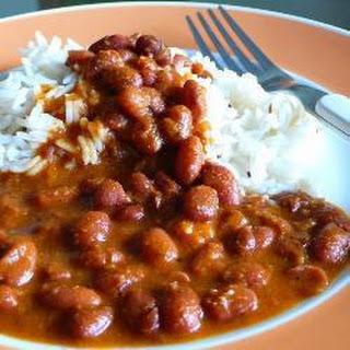 Rajma (Kidney bean curry).