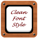 Clean Font Style icon