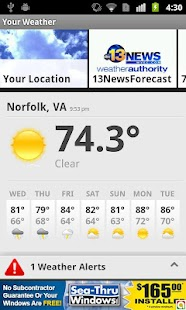 Severe Weather - WVEC Norfolk - screenshot thumbnail