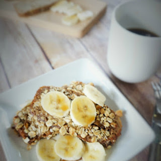 Chia and Granola Crusted Banana Bread French Toast