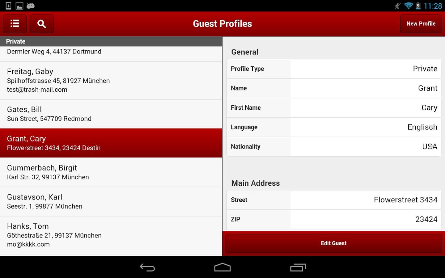 protel for Android- screenshot