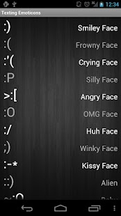 Texting Emoticons - screenshot thumbnail