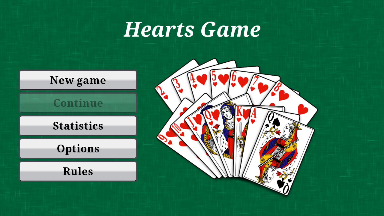 free card game hearts