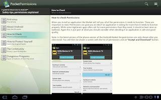 Screenshot of PocketPermissions