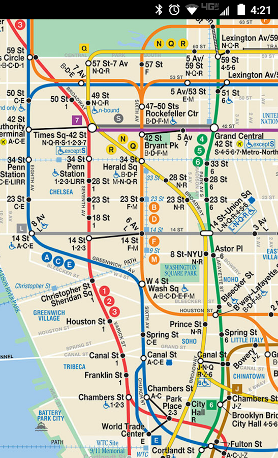 4 5 6 Subway Map