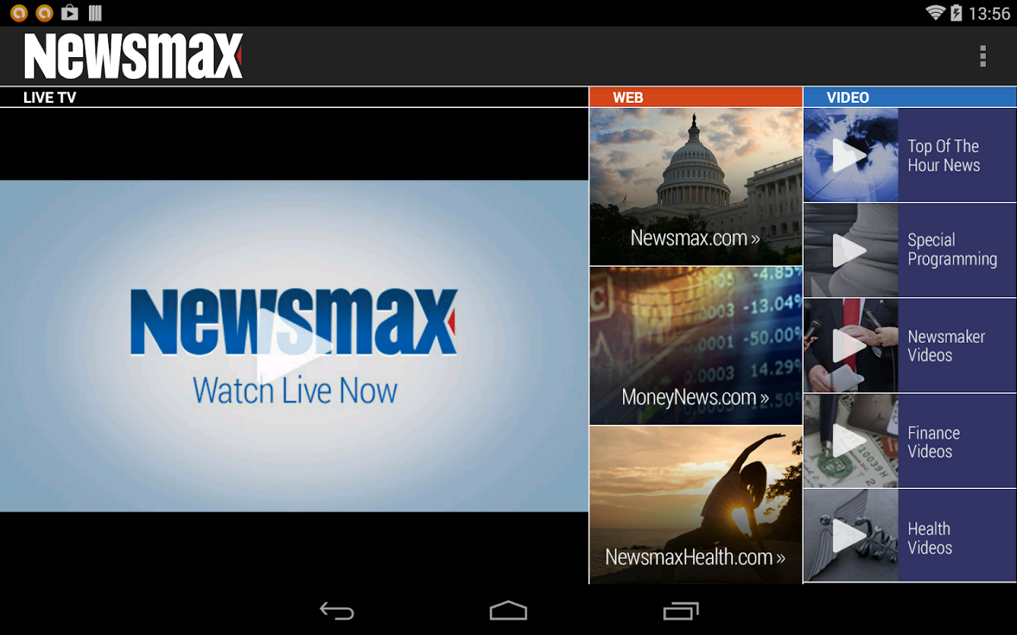Newsmax TV & Web- screenshot