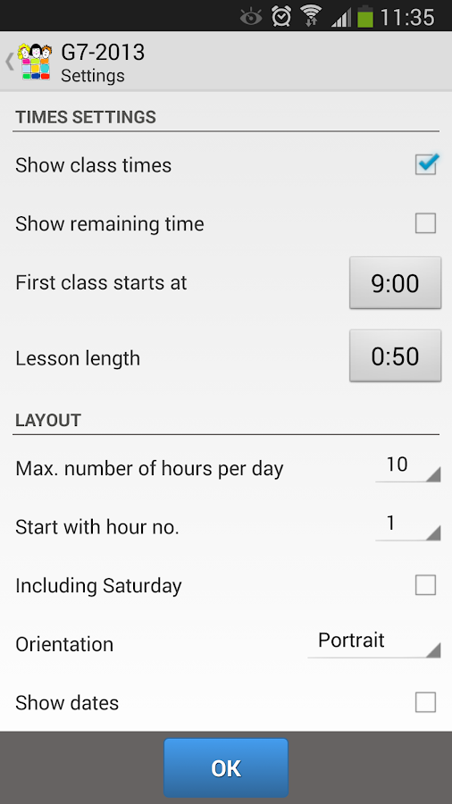 ClassShare Schedule- screenshot