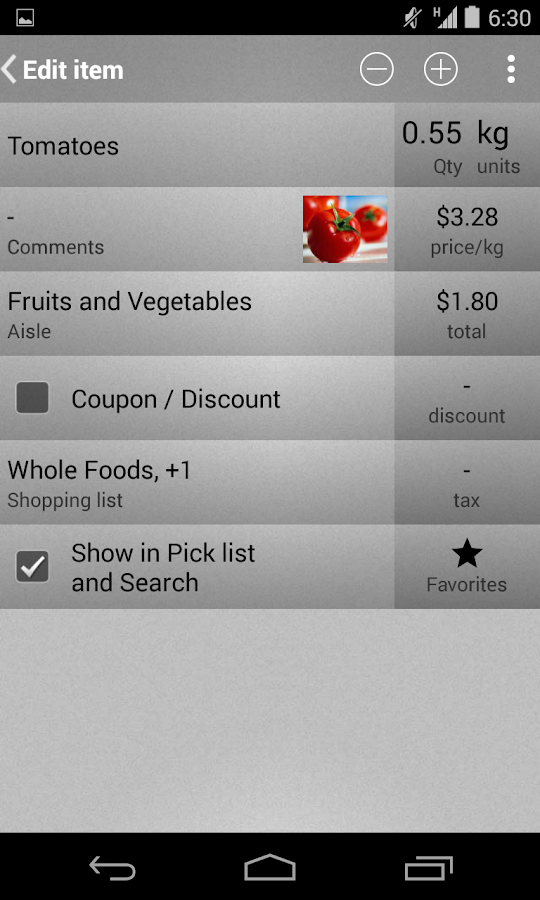 Mighty Grocery Shopping List- screenshot
