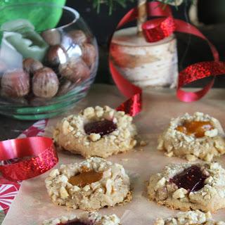 Gluten Free & Vegan Thumbprint Cookies