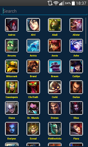 Champion Select for LoL