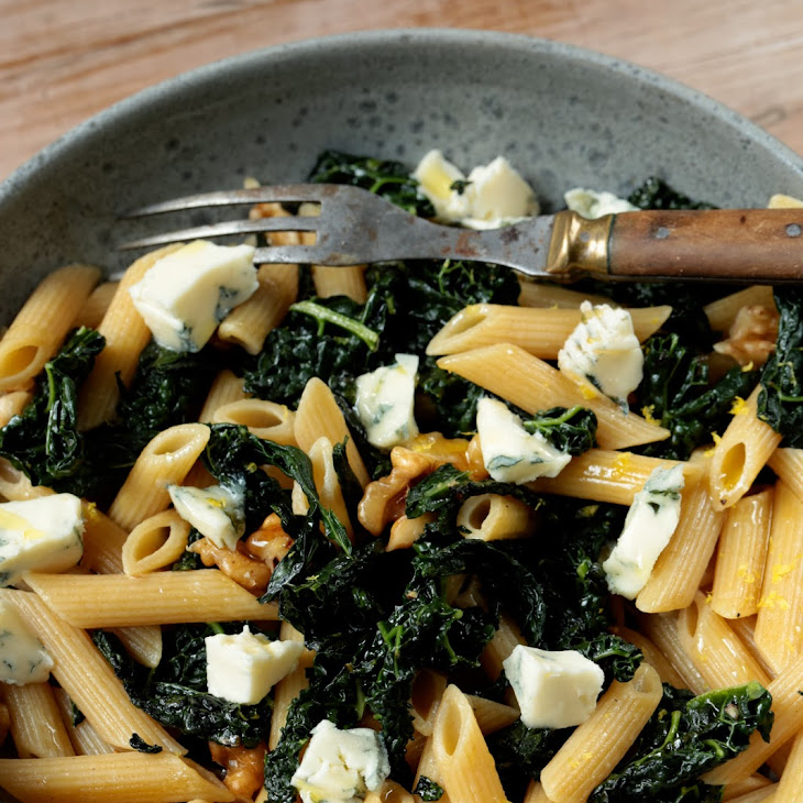 Penne with Black Kale, Gorgonzola, and Walnuts Recipe