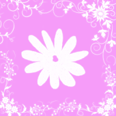 Pink Flower Keyboard Skin