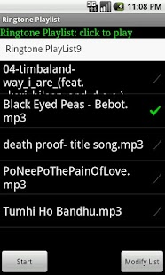 Ringtone Playlist Lite 8japps- screenshot thumbnail