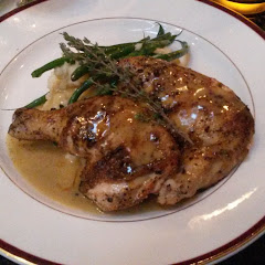 GF half chicken with green beans & mashes potatoes