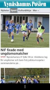 Nynäshamns Posten - screenshot thumbnail