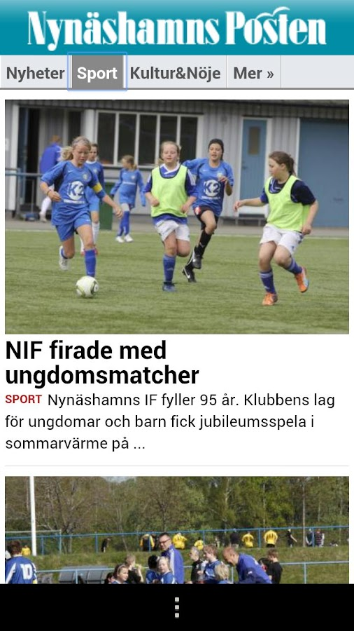 Nynäshamns Posten - screenshot