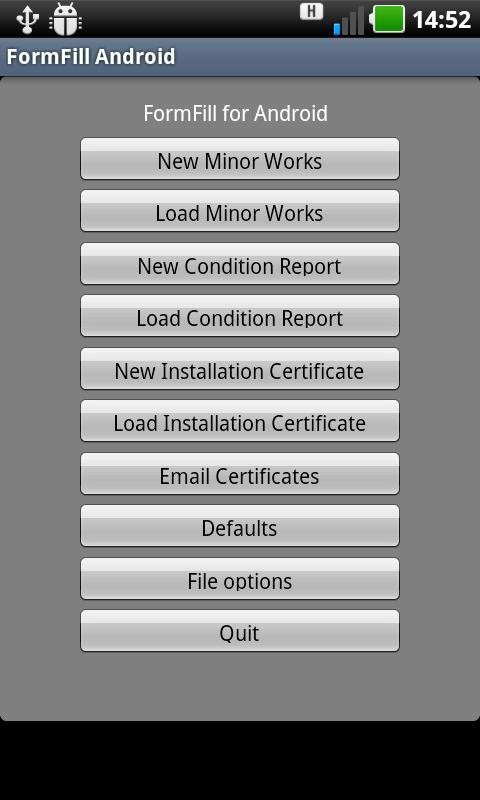 FormFill Android- screenshot