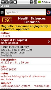 USC Health Sciences Libraries- screenshot thumbnail